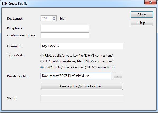 Đăng nhập server dùng SSH Keys, không cần Password - VNCLOUD SSH Keys