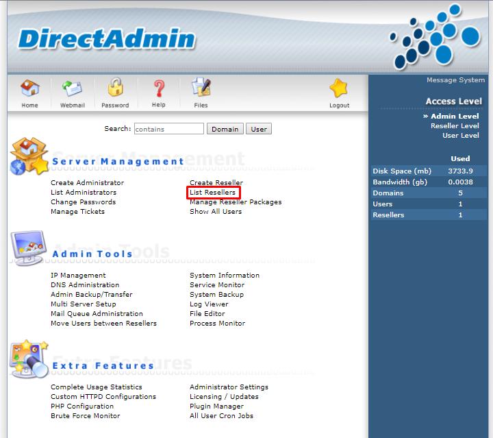 truy cập SSH sử dụng tài khoản reseller