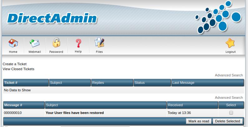 admin backup/transfer