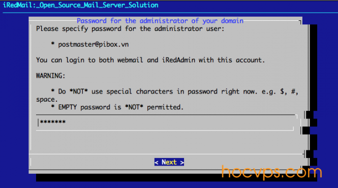 iRedMail Admin Password