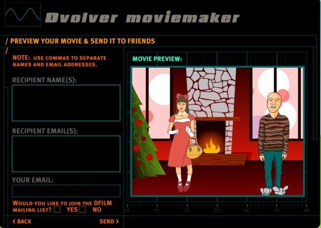Làm phim hoạt hình trực tuyến với Dvolver